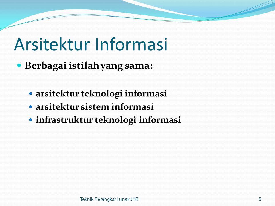 Arsitektur Informasi Berbagai istilah yang sama: