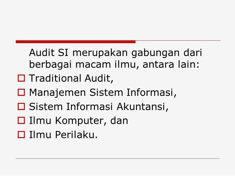 Audit SI merupakan gabungan dari berbagai macam ilmu, antara lain:
