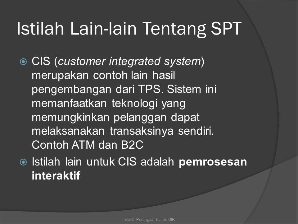 Istilah Lain-lain Tentang SPT