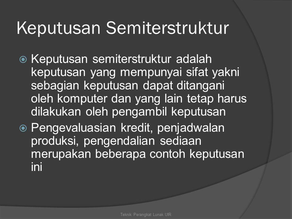 Keputusan Semiterstruktur