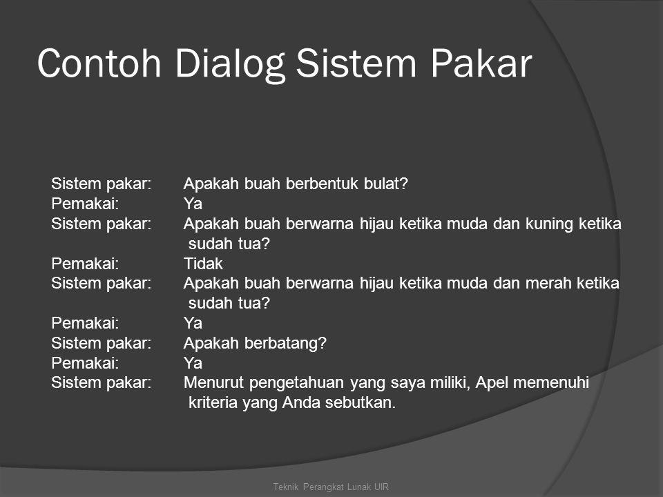 Contoh Dialog Sistem Pakar