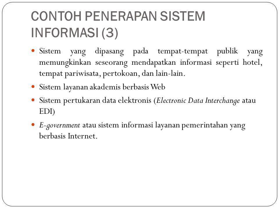 CONTOH PENERAPAN SISTEM INFORMASI (3)