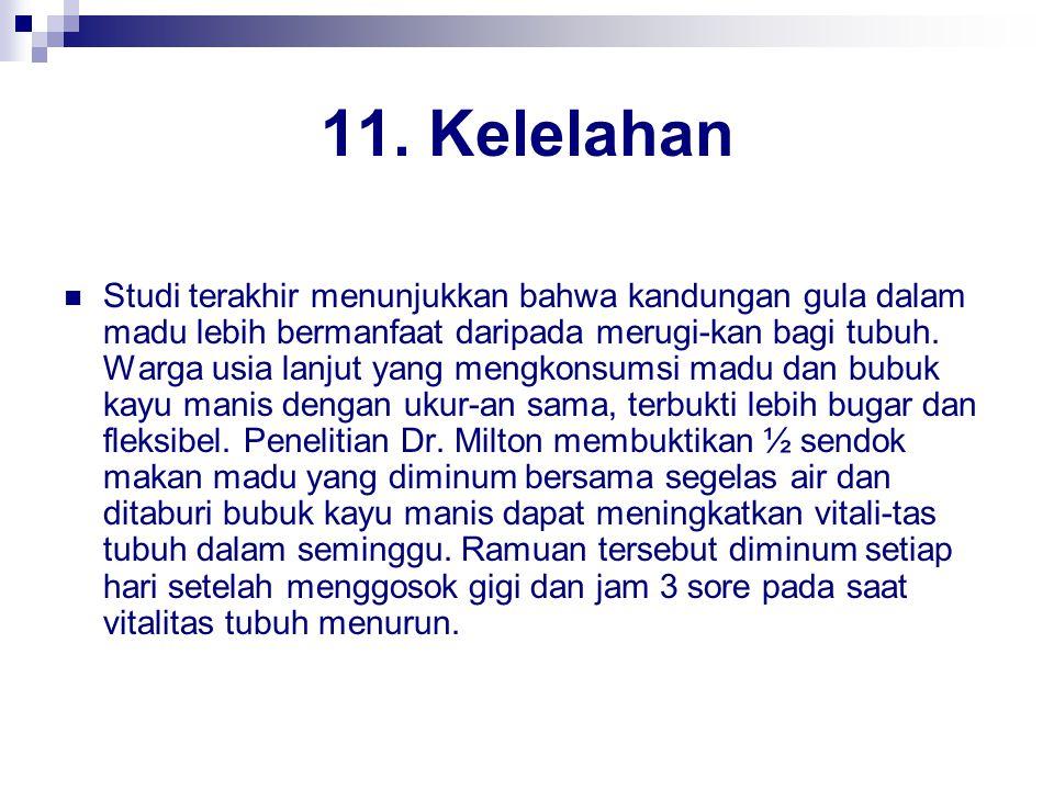 11. Kelelahan