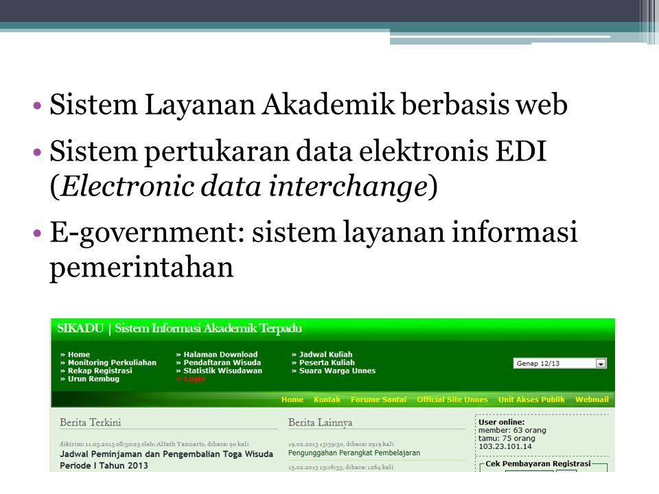 Sistem Layanan Akademik berbasis web