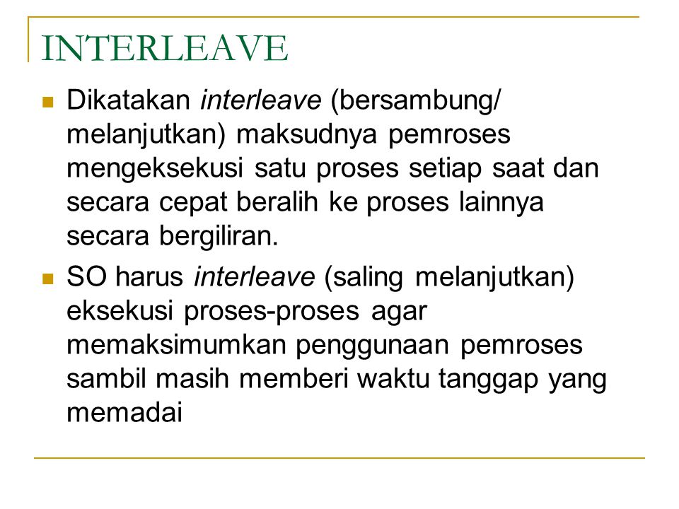 INTERLEAVE