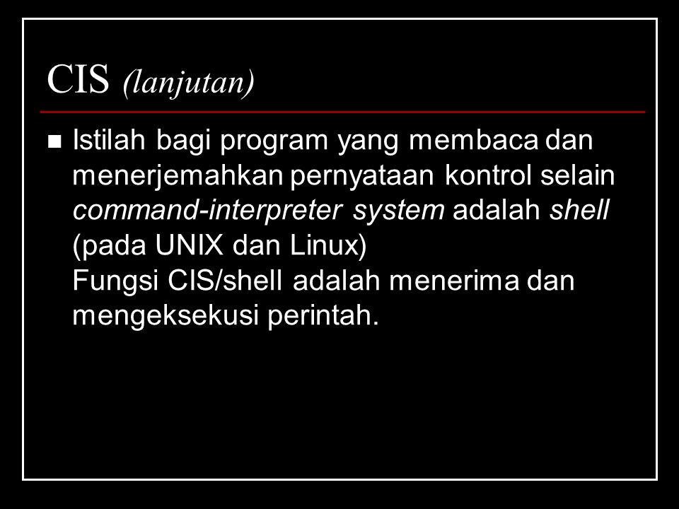 CIS (lanjutan)