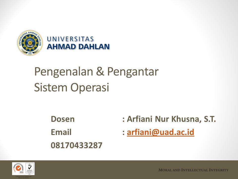 Pengenalan & Pengantar Sistem Operasi