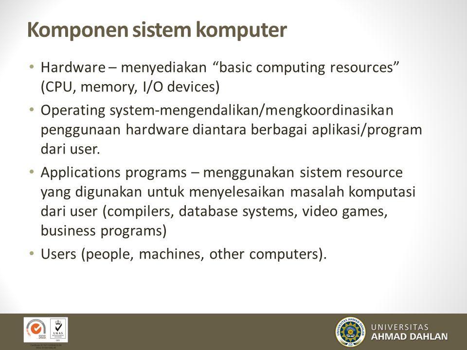 Komponen sistem komputer