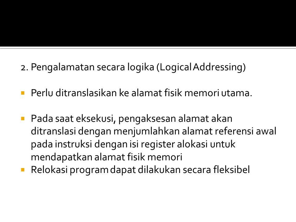 2. Pengalamatan secara logika (Logical Addressing)