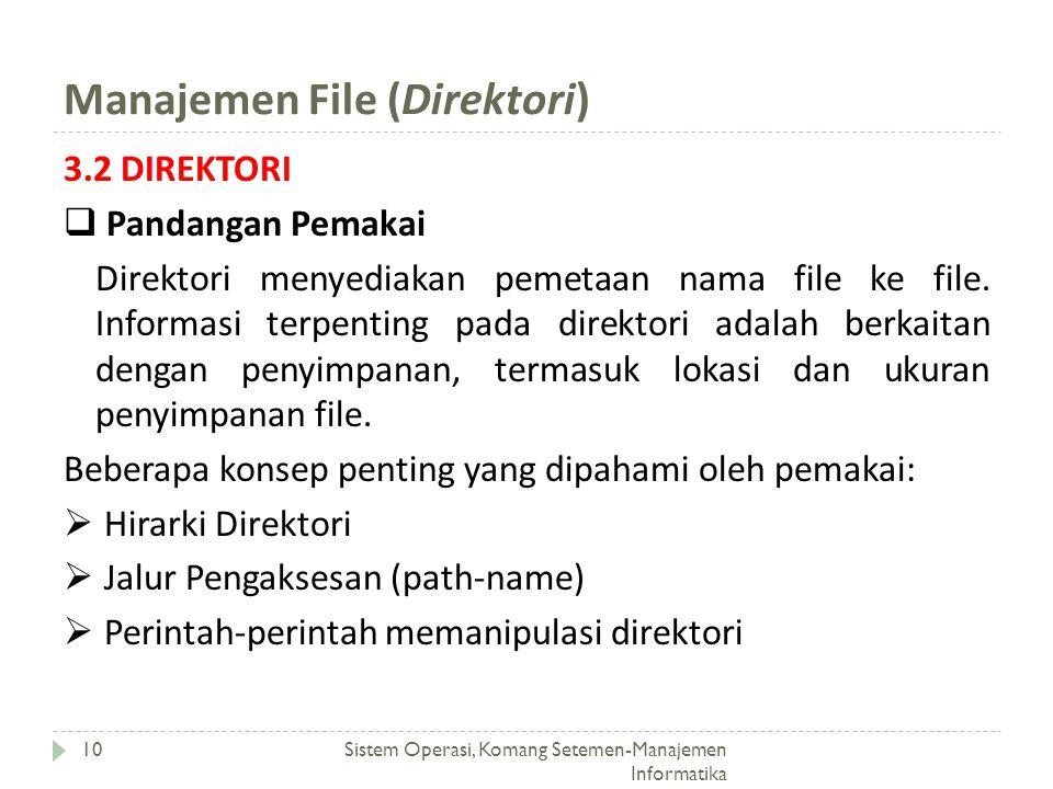 Manajemen File (Direktori)