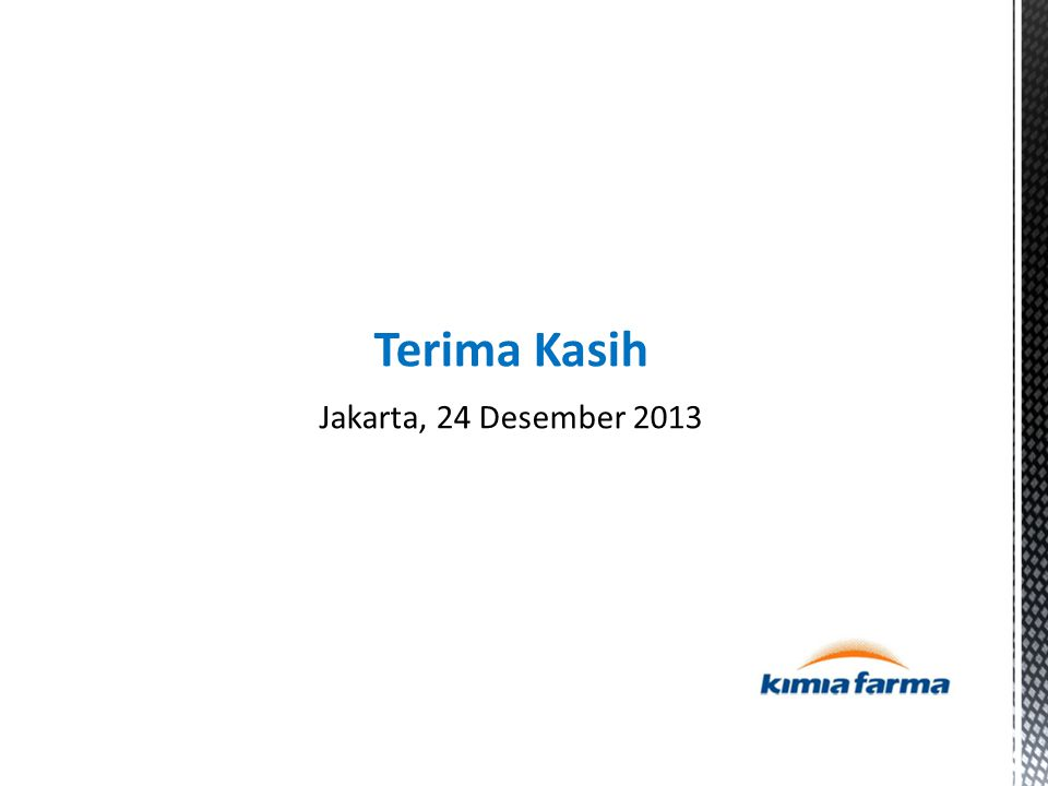 Terima Kasih Jakarta, 24 Desember 2013