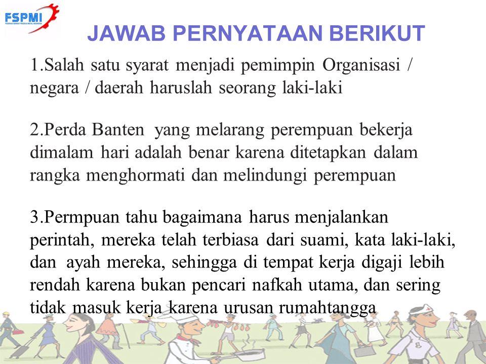 JAWAB PERNYATAAN BERIKUT