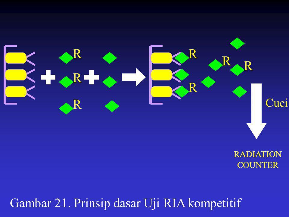 Gambar 21. Prinsip dasar Uji RIA kompetitif