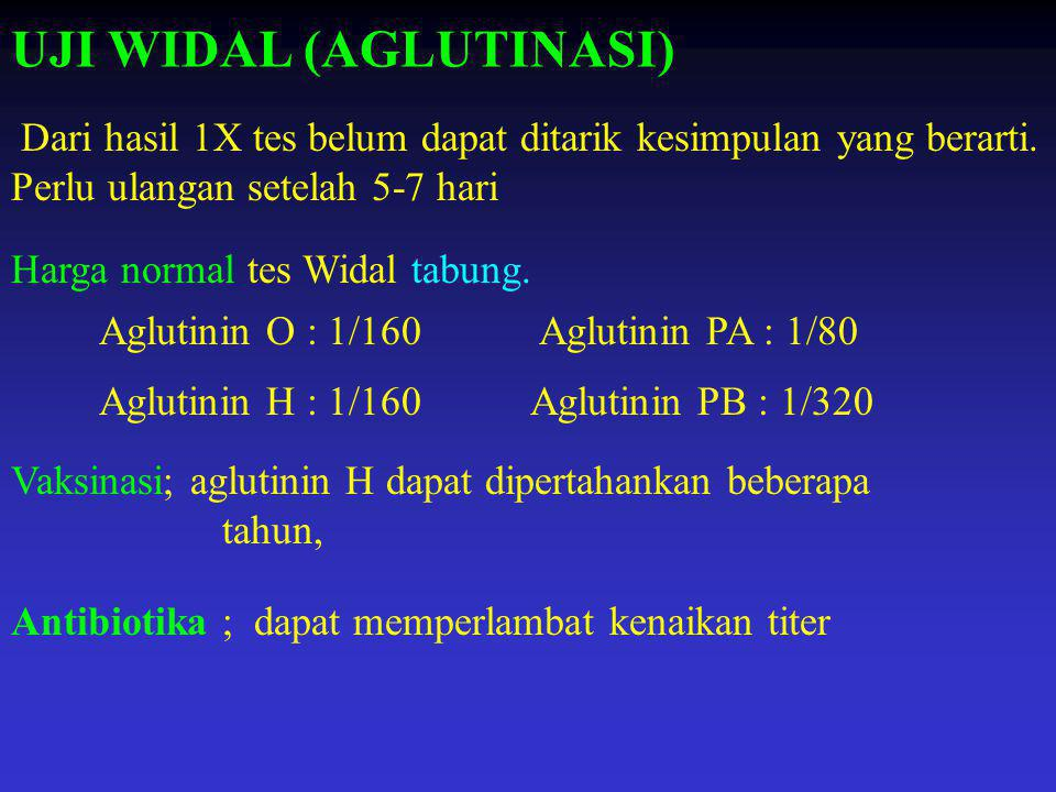 UJI WIDAL (AGLUTINASI)