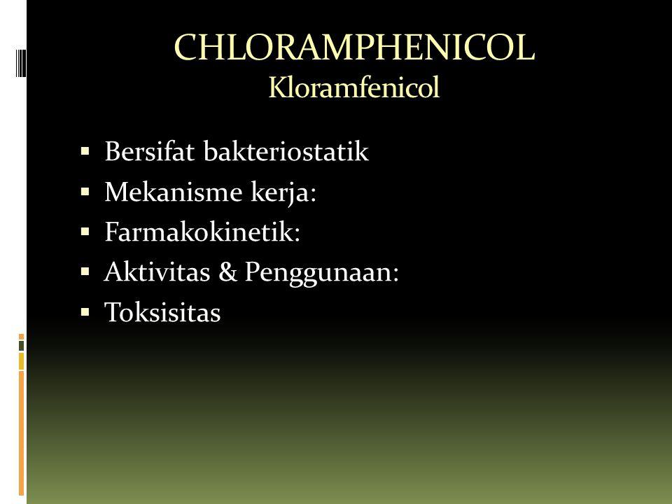 CHLORAMPHENICOL Kloramfenicol
