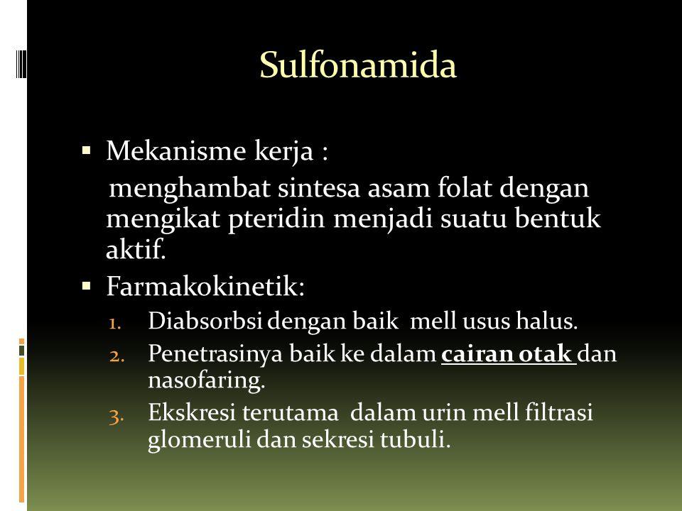 Sulfonamida Mekanisme kerja :