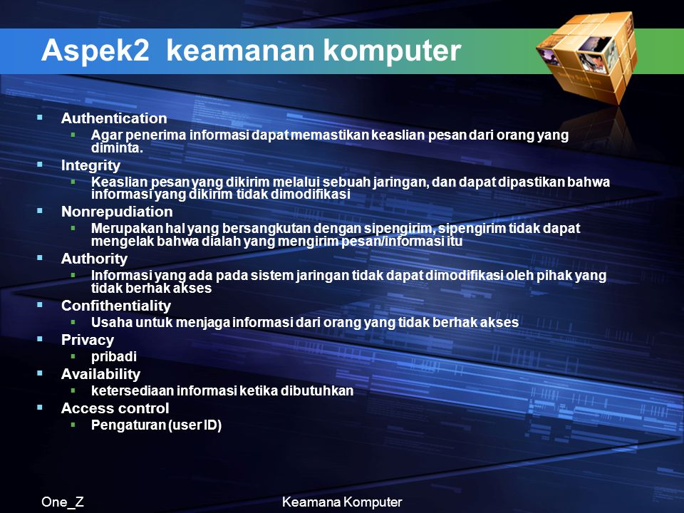 Aspek2 keamanan komputer