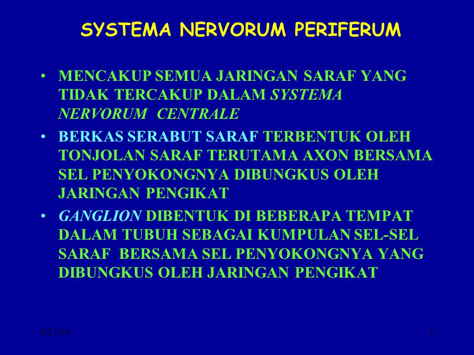 SYSTEMA NERVORUM PERIFERUM