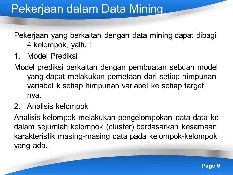 Pekerjaan dalam Data Mining