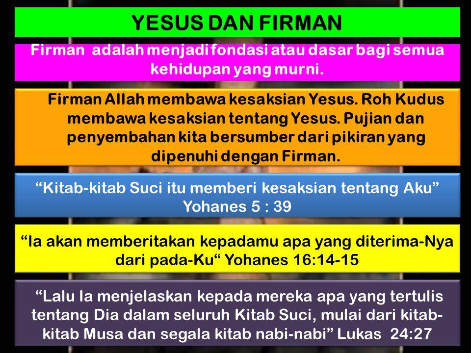 Kitab-kitab Suci itu memberi kesaksian tentang Aku Yohanes 5 : 39