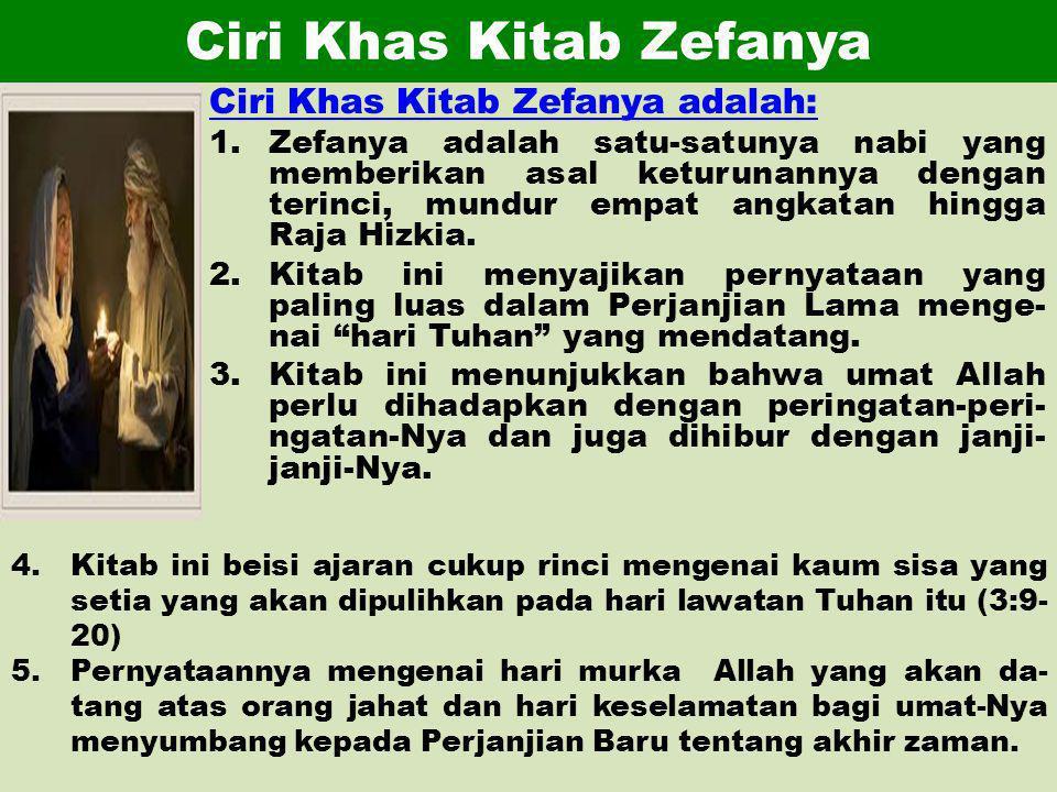 Ciri Khas Kitab Zefanya