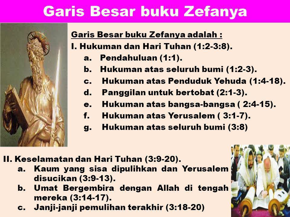 Garis Besar buku Zefanya