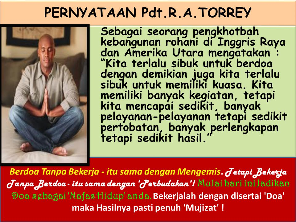 PERNYATAAN Pdt.R.A.TORREY
