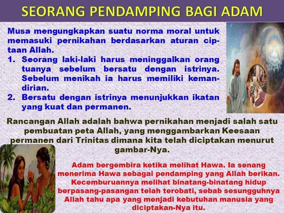 SEORANG PENDAMPING BAGI ADAM