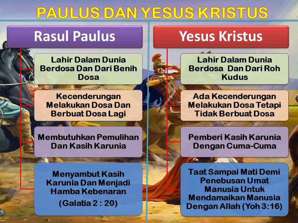 PAULUS DAN YESUS KRISTUS