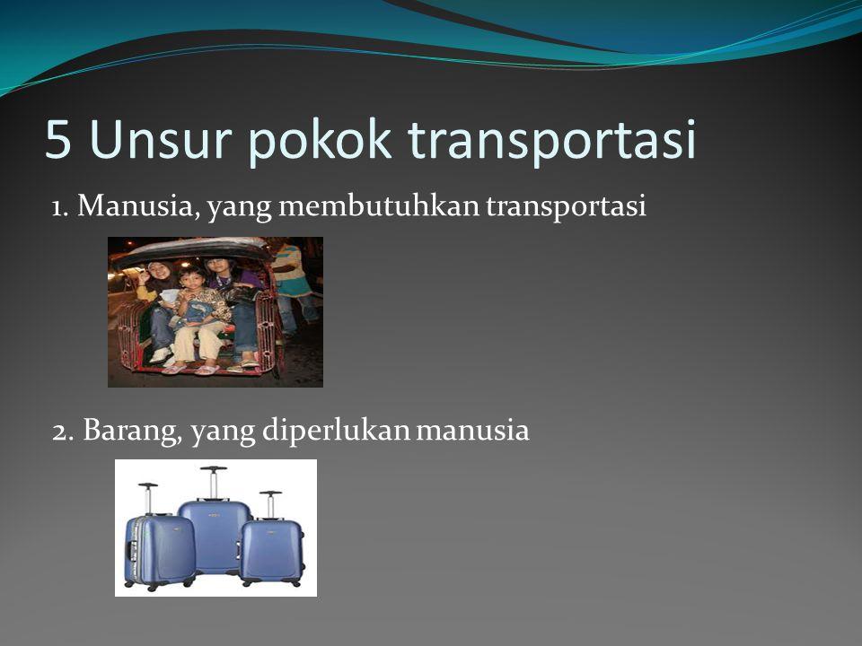 5 Unsur pokok transportasi