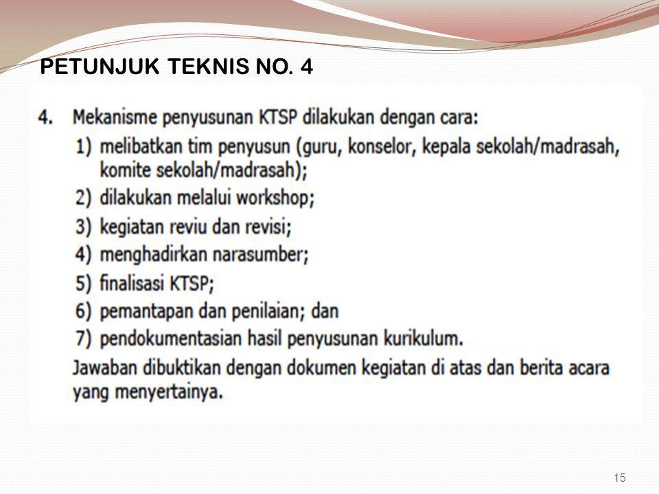 PETUNJUK TEKNIS NO. 4