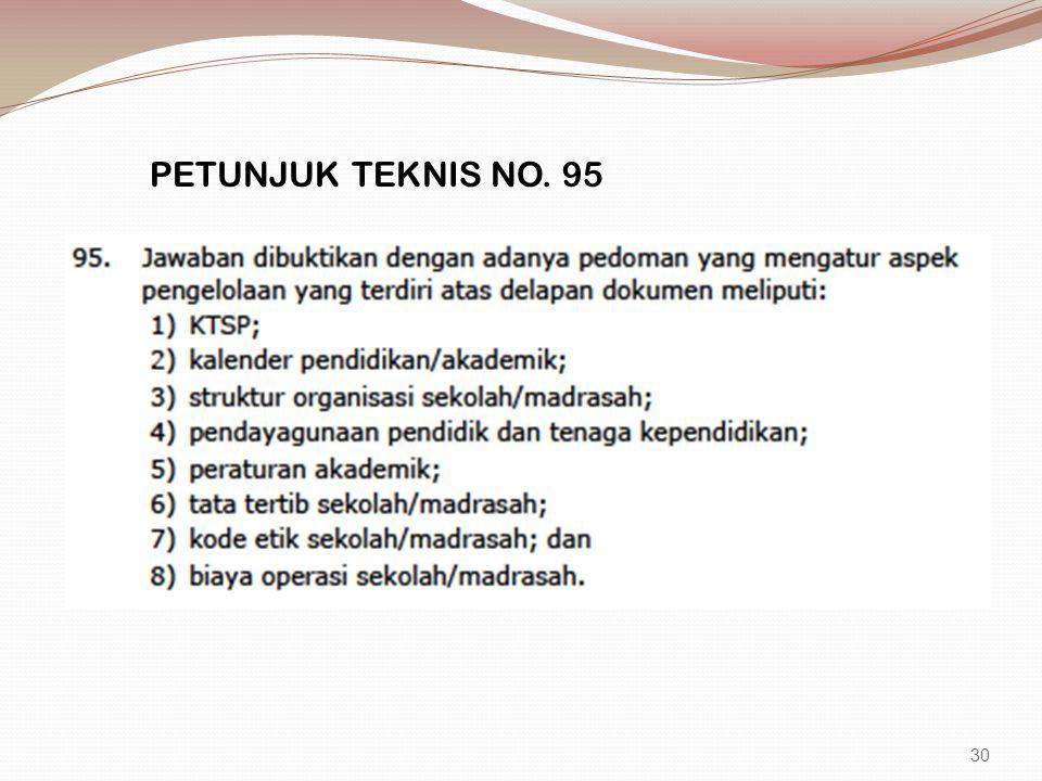 PETUNJUK TEKNIS NO. 95