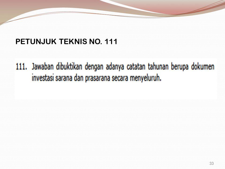 PETUNJUK TEKNIS NO. 111