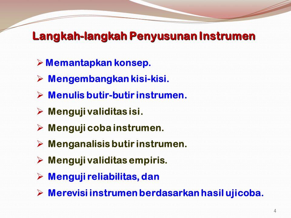 Langkah-langkah Penyusunan Instrumen