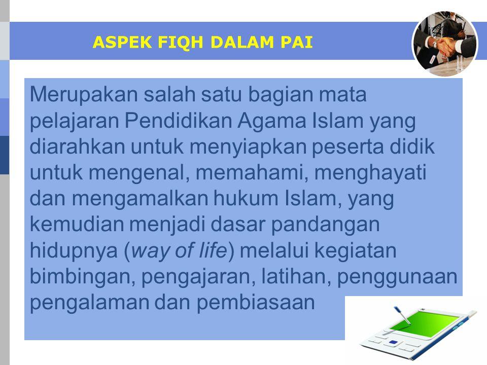 ASPEK FIQH DALAM PAI