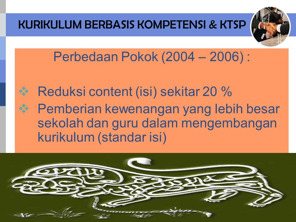 KURIKULUM BERBASIS KOMPETENSI & KTSP