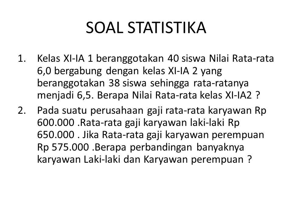 SOAL STATISTIKA