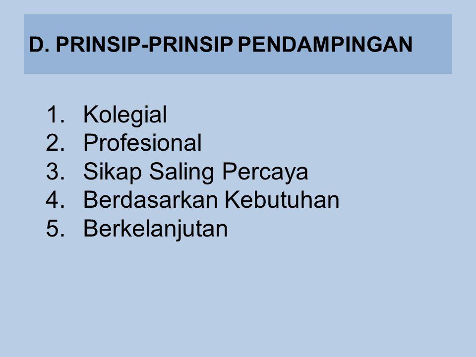 D. PRINSIP-PRINSIP PENDAMPINGAN