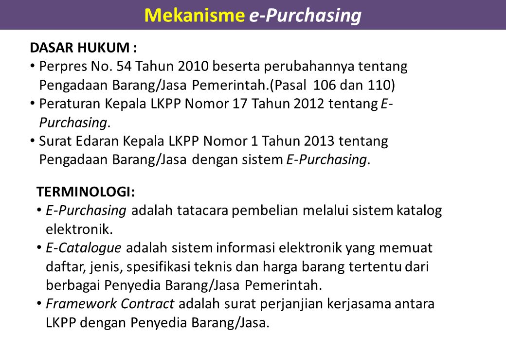 Mekanisme e-Purchasing