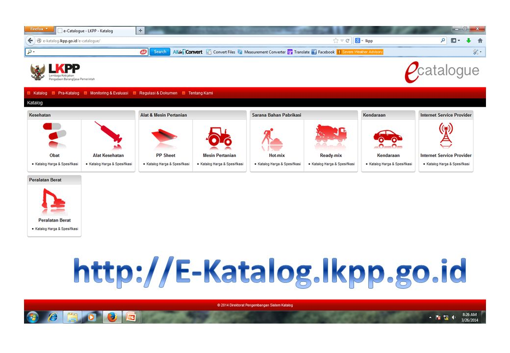 http://E-Katalog.lkpp.go.id