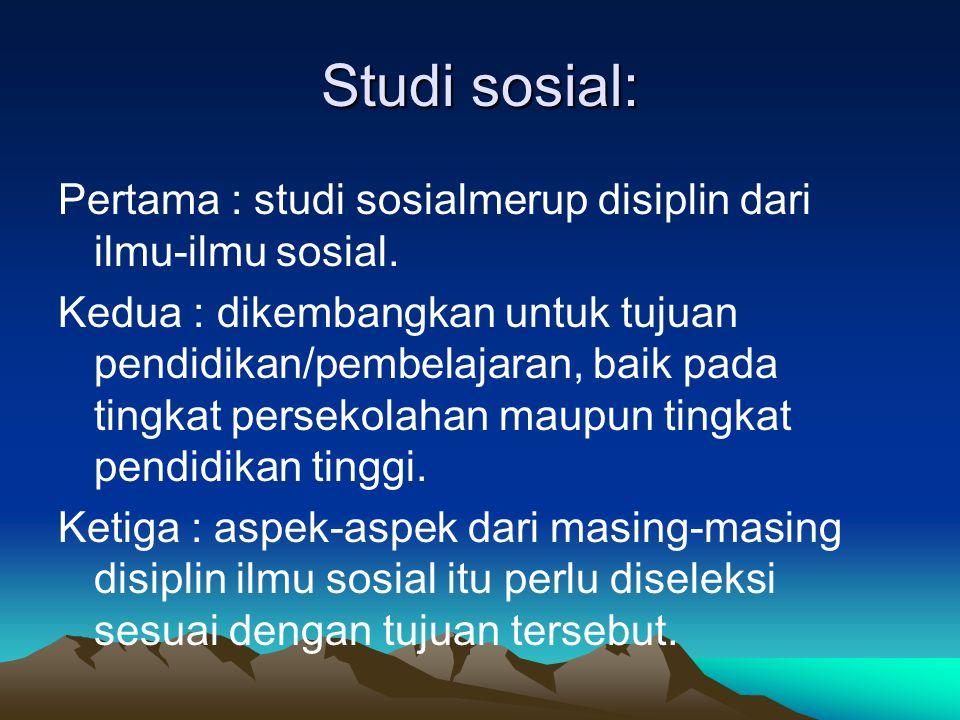 Studi sosial:
