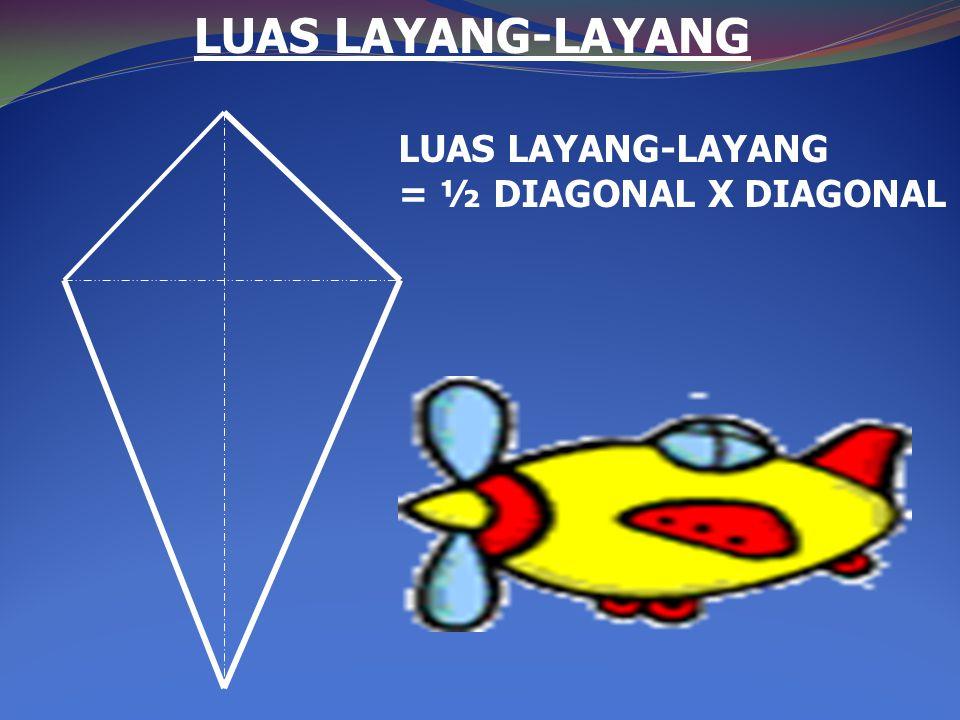 LUAS LAYANG-LAYANG LUAS LAYANG-LAYANG = ½ DIAGONAL X DIAGONAL