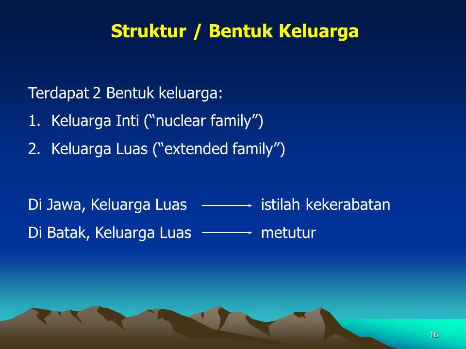 Struktur / Bentuk Keluarga