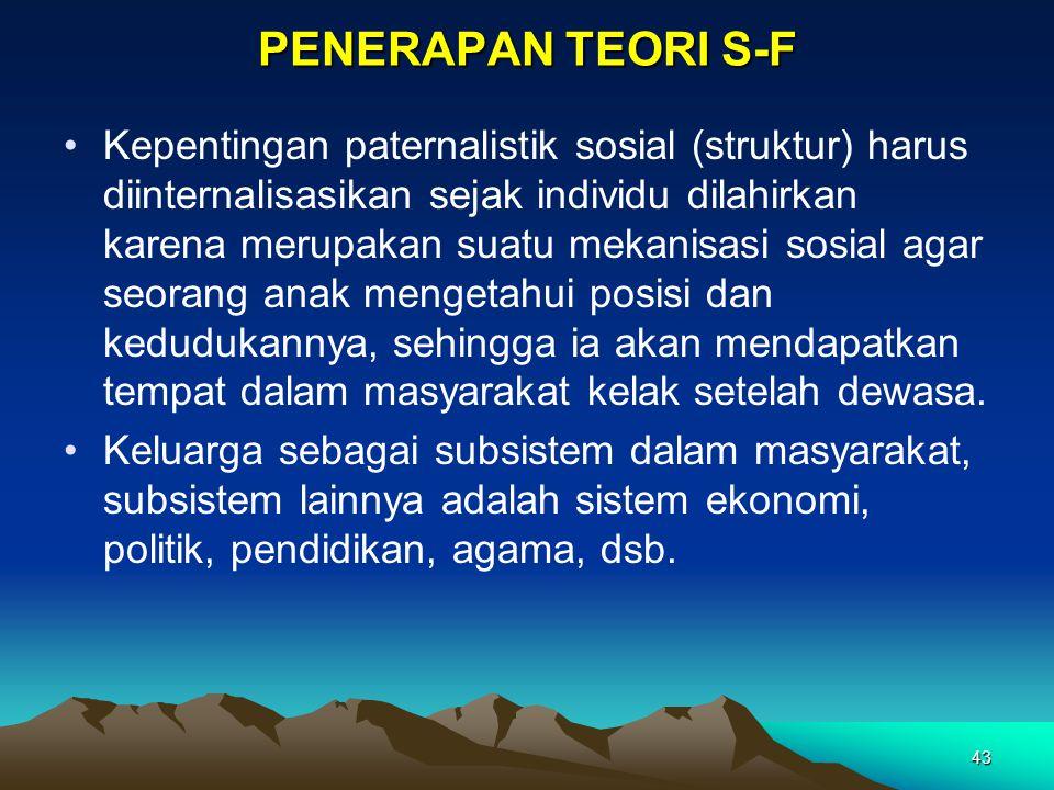 PENERAPAN TEORI S-F
