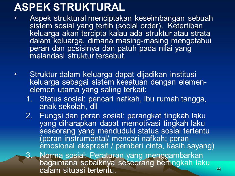 ASPEK STRUKTURAL