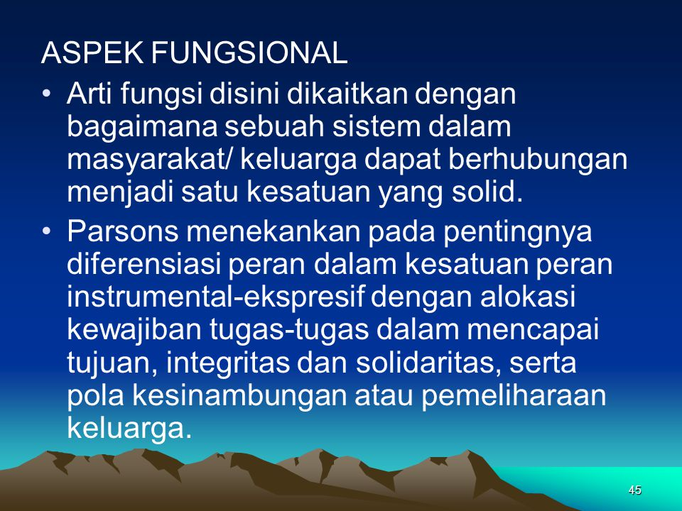 ASPEK FUNGSIONAL