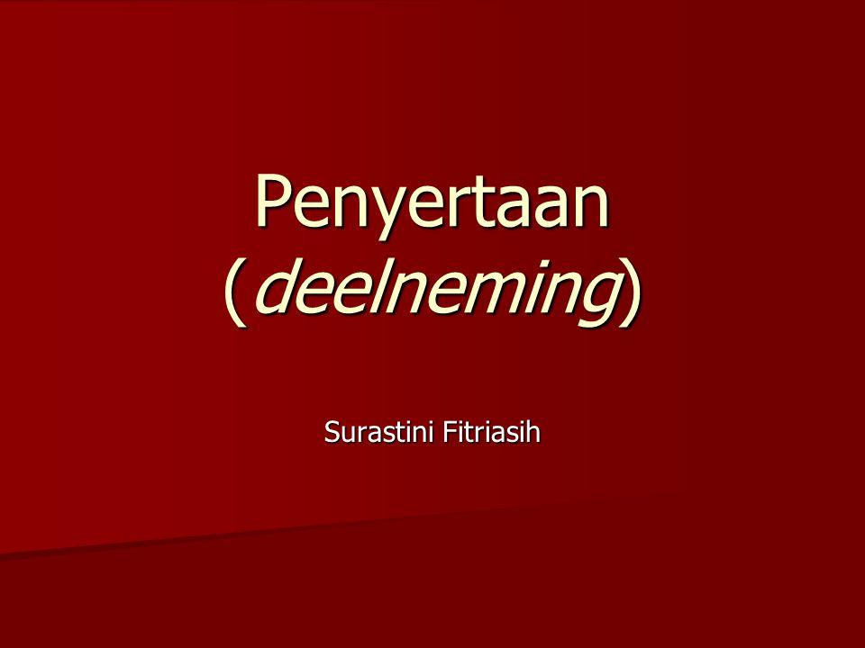Penyertaan (deelneming)