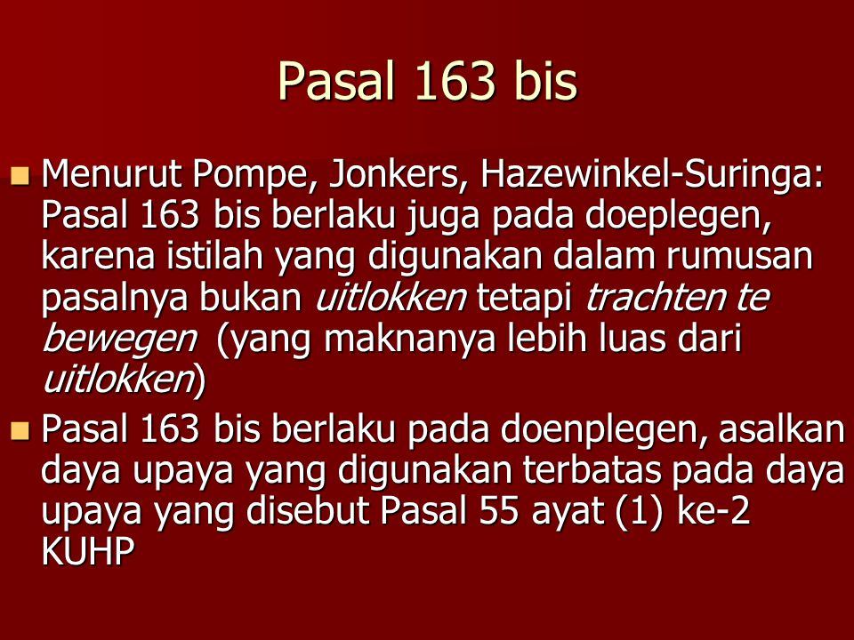 Pasal 163 bis