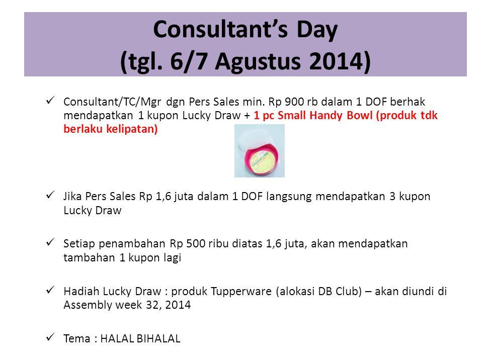 Consultant's Day (tgl. 6/7 Agustus 2014)