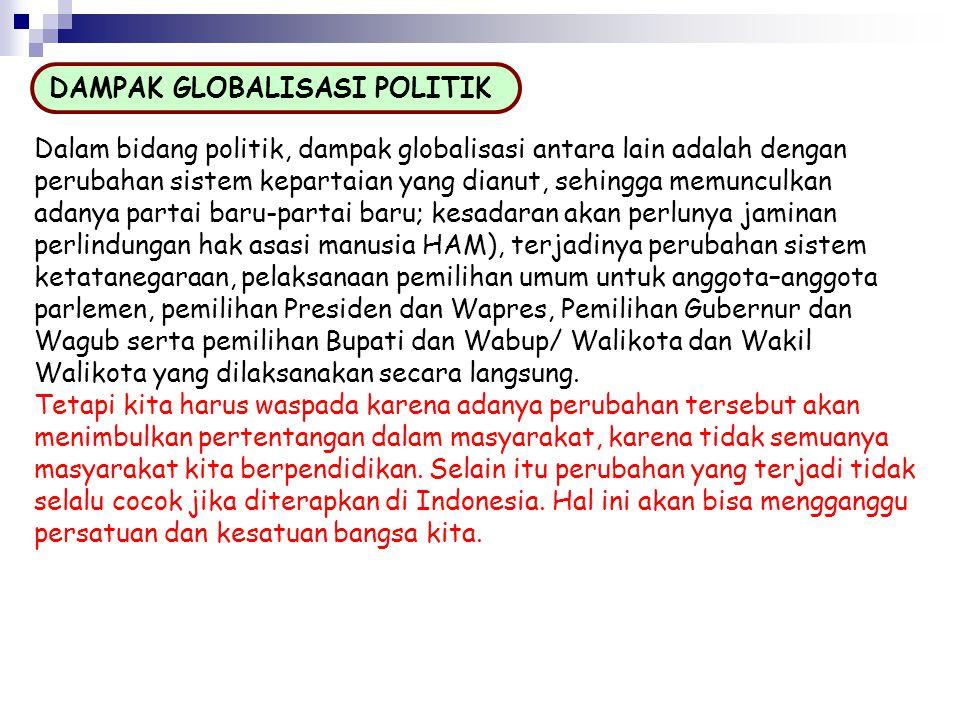 DAMPAK GLOBALISASI POLITIK